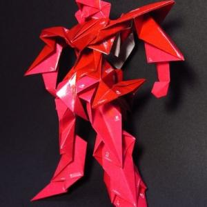 折紙ロボットにデカールを貼りました