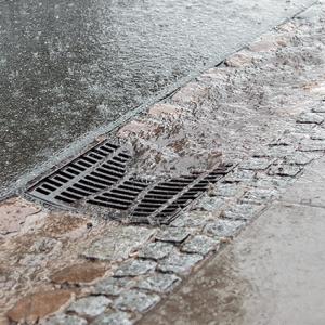 continuous rain.