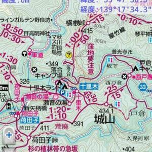 東京都あきる野市の城山へ行って来ました。