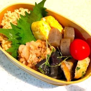 揚げナスの煮物と豚バラ炒めのお弁当