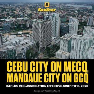 セブ市はMECQ、マンダウエ市はGCQへ