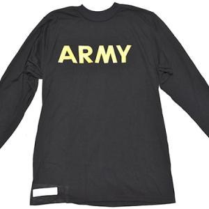 アメリカ実物 Army Physical Training PT APFUTシャツ SMALL ブラック
