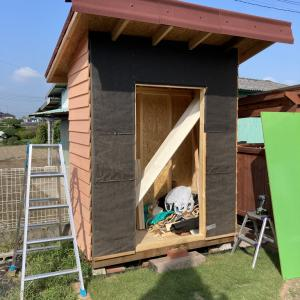 DIYで物置小屋を作ってみる #6