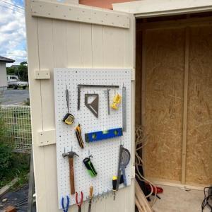 DIYで物置小屋を作ってみる #9
