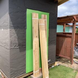 DIYで物置小屋を作ってみる #5