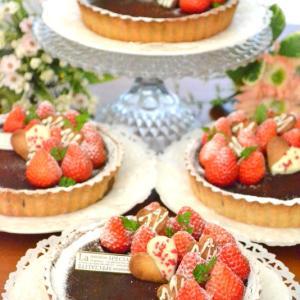 バレンタインレッスンはグルテンフリーのチョコタルトケーキでした