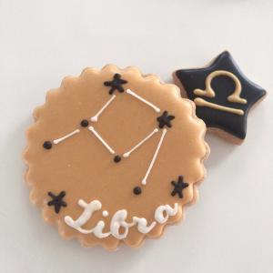 天秤座のアイシングクッキーできました