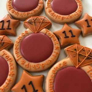 11月の誕生石トパーズのアイシングクッキー