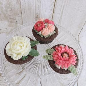 念願のフラワーショコラカップケーキのレッスンに参加!