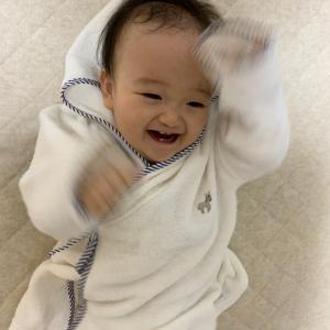 出産祝いのバスローブ