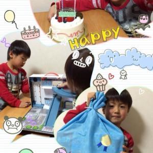 息子、五歳の誕生日