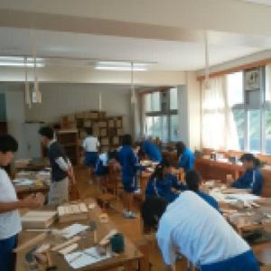 中学校 ものつくり体験教室 建築大工の担当