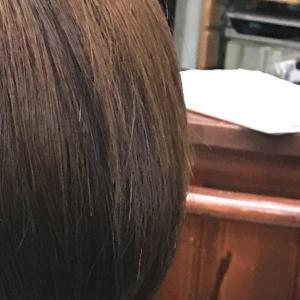 ボブ明るい白髪染めイチゴカラー8レベル+α
