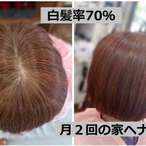 #白髪率70% #ヘナとインディゴ #うどんと蕎麦 #ホームヘナ月2回 #オリジナルブレンド