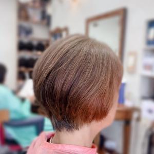 #白髪80%にヘナはこうなる #染めた境目がわかりにくい #くせ毛にはヘナ