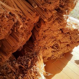 竹皮の配達