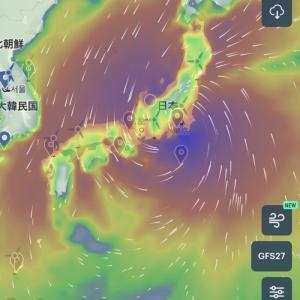 連休台風と収穫