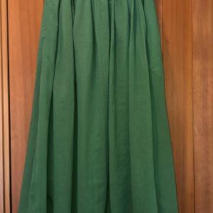 コットンシフォンのスカート完成しました♪