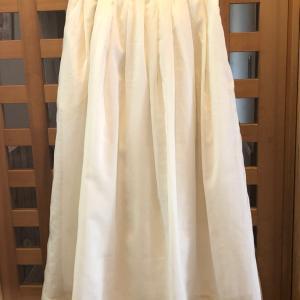 タックギャザースカートを作りました♪