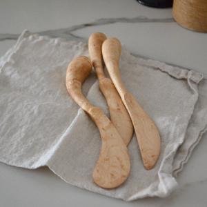 バーズアイメープルのバターナイフ