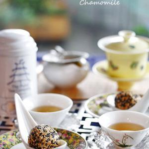 ごま団子と中国紅茶