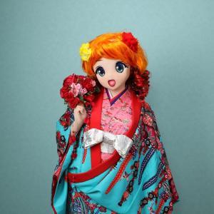 [追加画像]りこの琉球衣装[着ぐるみ琉装]その2/kigurumi Riko wore Ryukyu clothes at Okinawa. Act.2
