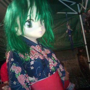 男の娘着ぐるみの浴衣/Kigurumi wearing a yukata.