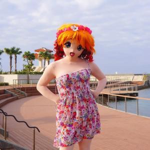 沖縄北谷港南端で撮影[着ぐるみ]/I photographed her on the south side of Chatan Port Okinawa.
