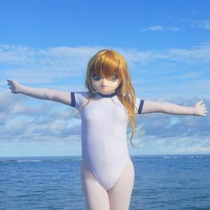 砂辺海岸全景gif動画。砂辺海岸その10[沖縄ロケ]/What the wonderful sea! Sunabe beach act.10