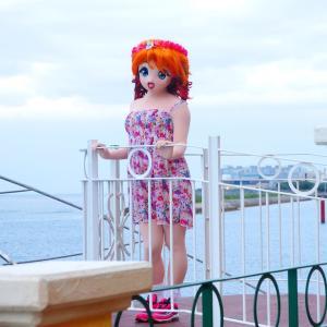 これってきっと船だよね?アメリカンビレッジ着ぐるみgif動画/American Village Okinawa