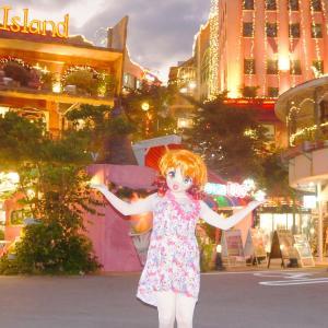 夜のアメリカンビレッジはまるでおもちゃの国の夜景のようでした[着ぐるみgif動画]/American Village Okinawa