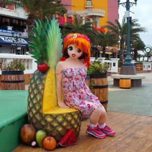 沖縄のパイナップルは座ることができる!?[着ぐるみ動画]/Okinawan pineapples can be seated.