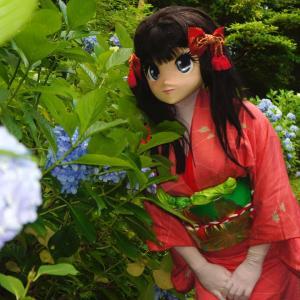 おや?このお花は[着ぐるみ動画]アジサイの咲く小道おまけ1/Kigurumi doll Gion went to see the hydrangea.act.3