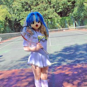 今日は愛林日?/着ぐるみテニス/The Kigurumi doll Plays tennis.