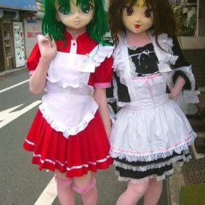 [準にゃん、ほめお]トランスジェンダーの日なので着ぐるみTGキャラを/The kigurumi dolls of TransGender charactor.