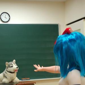 犬と着ぐるみ:忠犬ハチ公の日/Dogs and kigurumi doll.