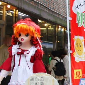 オレンジデーのオレンジ髪の着ぐるみ、川崎東田商店街その8/[Festival at kawasaki]kigurumi doll participated.act 8