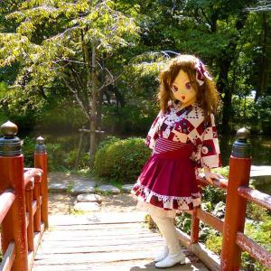 [着ぐるみ]深大寺にて、着物ドレス[過去写真]/ kigurumi's kimono dress.