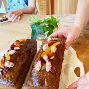 ずっしり重いフルーツケーキ♡ビギナーさんからのケーキレッスン