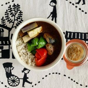 鯖缶と夏野菜カレー弁当