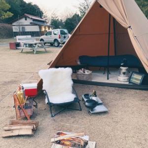 新年キャンプ始め やっと設営完了!