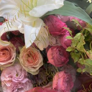 紫陽花を使ったお誕生日の花束