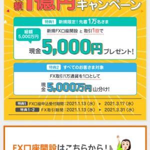 auじぶん銀行のFXで5000円♪