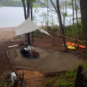 湖畔の薪ストーブキャンプ場(その3・撤収)