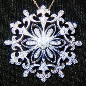 ★★ まるで 雪 の 結晶 の ような 繊細な ダイヤ ペンダント ♪♪ ★★