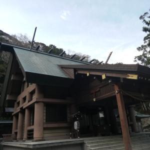 安房神社と朝日と夕日の見える岬