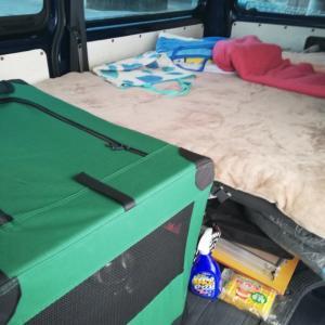 4型ハイエース車中泊仕様ほぼ完成~友人宅近所の河原で車中泊BBQ