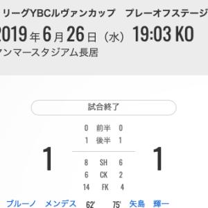 6/26 YBCルヴァンカップ プレーオフステージ 第2戦 VS FC東京 @ ヤンマースタジアム長居