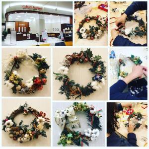 ★楽しい【クリスマスリース】作り♪