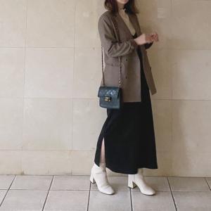 GU 大人っぽく着られる秋キャミソールワンピース